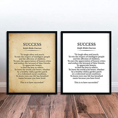 TWTQYC Success Ralph Waldo Emerson Poem Print Inspirational Quotes Vintage Poetry Poster Literature product image