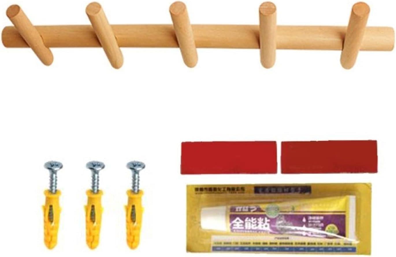 LCCDSD Wall Mesa Mall hat Hook Durable Wooden Coat Rack Robe OFFicial mail order Modern Hooks
