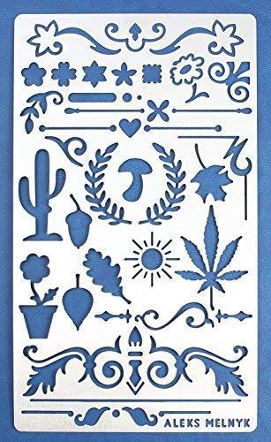 Aleks Melnyk #1 Stencil in Metallo Riutilizzabili per Pittura, 1 pezzo/Stampo Stencil con Fiori, Vintage, Shabby Chic/Stencil da Cartolina, DIY/Template di Pittura Decorativo/Stencil per Scrapbook