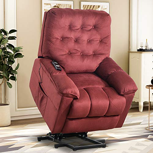 Lift Chairs for Elderly - Lift Chairs Recliners Lift Sofa Electric Recliner Chairs with Remote Control Soft Fabric Lounge