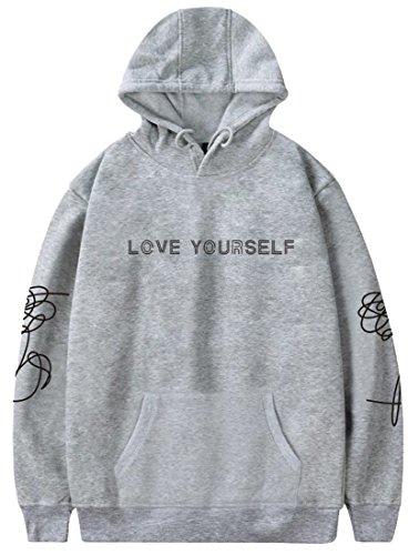 Silver Basic Heren Pullovers BTS Hoodies Liefde Jezelf Pullover Hoodie Jumper Pullover Sweatshirt Truien Suga Jin Jimin Jung Kook J-Hope Rap-Monster V