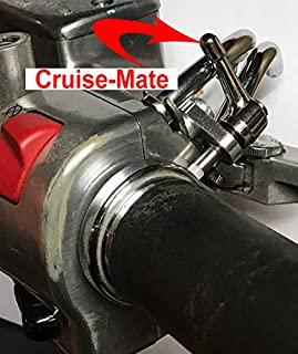 Cruise-Mate, Kawasaki and Yamaha Cruisers, Chrome, motorcycles with 2 O`clock cable configuration. WILL NOT WORK ON SPORT BIKES OR OTHER BRANDS OF MOTORCYCLES!