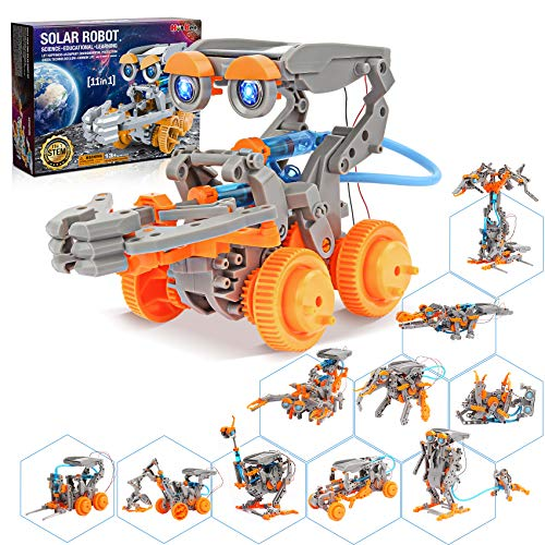 Hot Bee 11 in 1 Solar Robot Kit STEM Projects for Kids Ages 8-12 DIY Building Set Science Experiment Kits Robotics Toy Solar Powered Educational DIY Assembly Kit, Toys/Gifts for Boys Girls