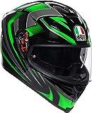 AGV K5-S Hurricane 2.0 Negro Verde Casco De Moto De Cara Completa Tamano XL