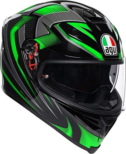 AGV K5-S Hurricane 2.0 Negro Verde Casco De Moto De Cara Completa Tama