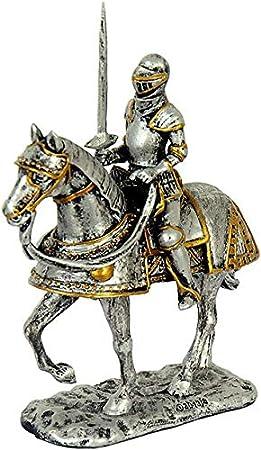 Unbekannt Figura medieval de caballero sobre caballo