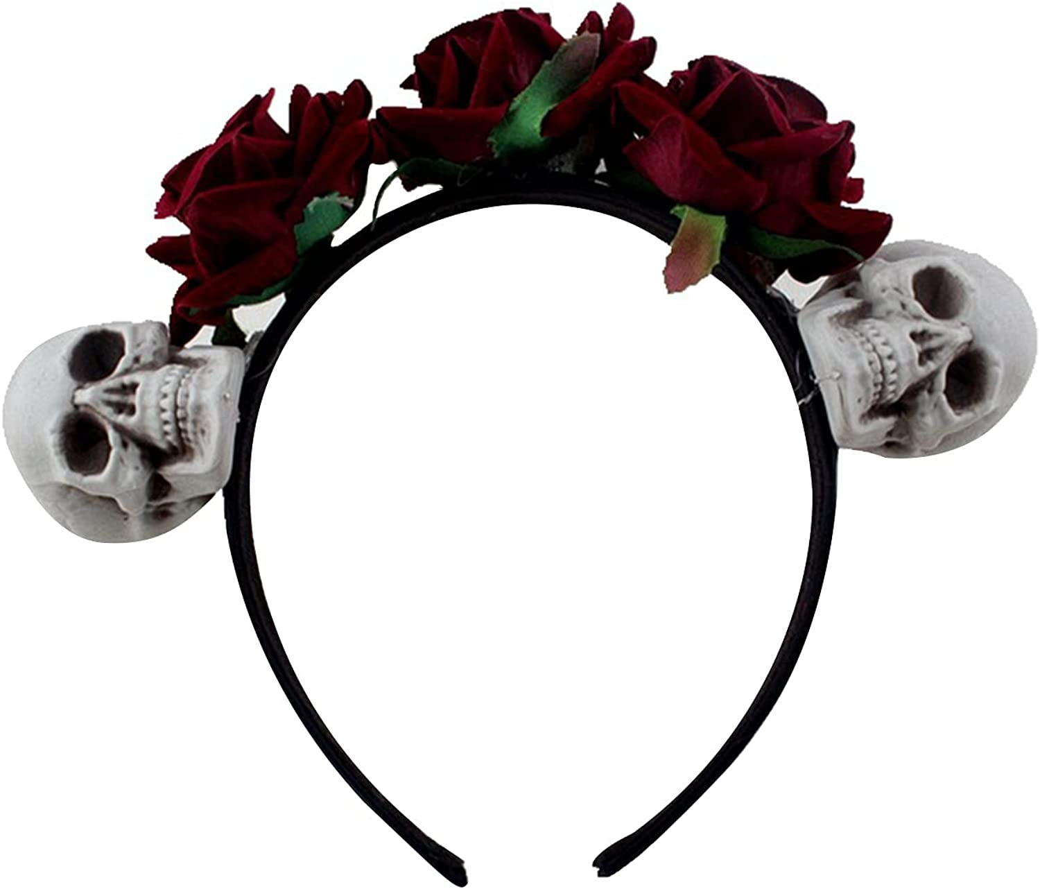 Day of The Max 44% OFF Dead Headband Gothic Rose Crown Flower 2021new shipping free Skull Costume