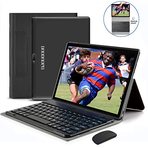 10 Pollici 4G Tablet, 2 in 1 Tablet PC Con wifi Offerte 4G Android 9.0 4GB RAM + 64GB ROM / 128GB Espansione e Dual SIM Full HD PC, Portatili e Tablet WiFi / GPS / Bluetooth Tablet (nero)