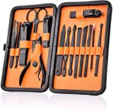 15 in 1 Manicure Set, HailiCare Stainless Steel Personal Care Manicure Pedicure Ear
