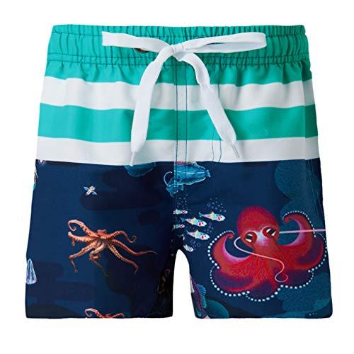 Funnycokid Kleinkind Shorts Sommer Strand tragen Big Octopus Extended Size Kinder Schwimmen Badeshorts mit Taschen