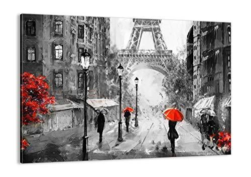 ARTTOR Cuadro sobre Lienzo - Impresión de Imagen - Paris Ciudad hogar - 70x50cm - Imagen Impresión - Cuadros Decoracion - Impresión en Lienzo - Cuadros Modernos - Lienzo Decorativo - AA70x50-3942