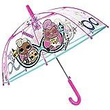 LOL Surprise Regenschirm Transparent Kinder - Confetti Pop Puppen Kinderregenschirm Pink Hellblau...