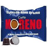 CAFFE' MORENO 100 CIALDE CAPSULE MISCELA ESPRESSO BLUE AROME COMPATIBILITA' NESPRESSO