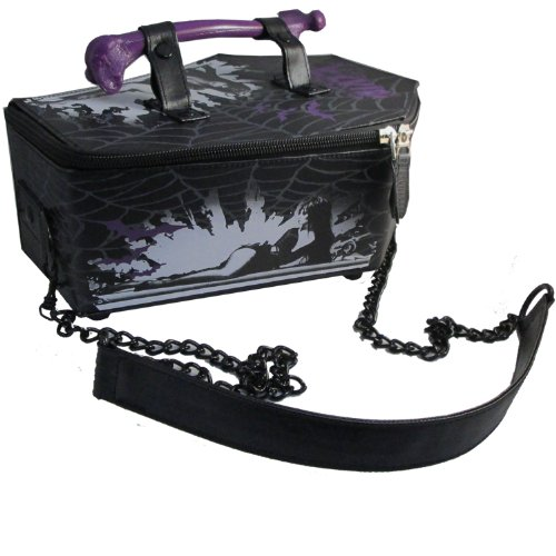 Kreepsville 666 Horror Gothic - Elvira Mistress Of The Dark Web Coffin Bag Purse