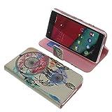 Tasche für Wiko Pulp 4G Book Style Traumfänger Schutz Hülle Buch