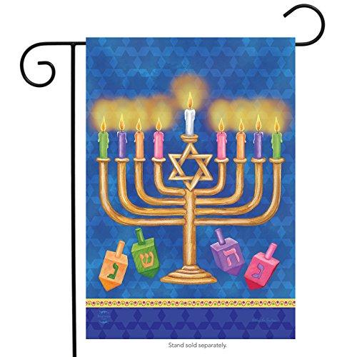 Briarwood Lane Happy Hanukkah Garden Flag Holiday Menorah 12.5' x 18'