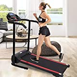 KAB Folding Treadmill Electric Motorized Running Machine with 12 Pre-Set Programs Load 500 Lbs with LED Display and Water Bottle Holder Easy Assembly for Indoor Exercise