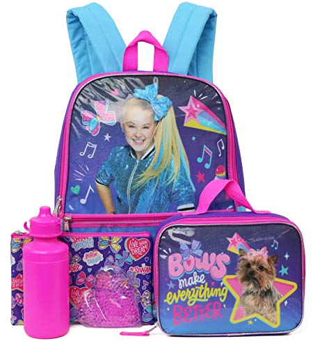 Nickelodeon JoJo Siwa Full Size Backpack With Accessories (Reach for the Stars)
