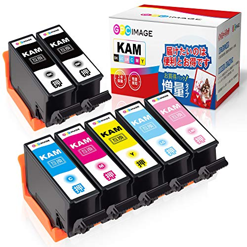 GPC Image KAM-6CL-L KAM-BK-L エプソン用 カメ インクカートリッジ 7本パック Epson対応 EP-882AW EP-882AB EP-882AR EP-881AW EP-881AB EP-881AR EP-881AN 互換インク 残量表示機能 2年保証 個包装 大容量 説明書付