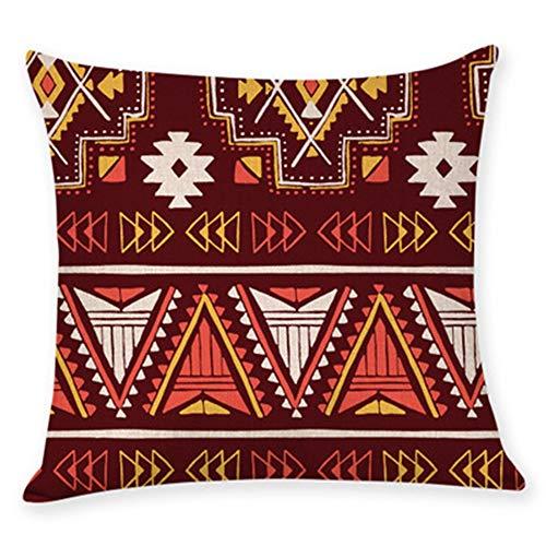 YONGYONG Taie D'oreiller De Sofa De Maison De Câlin De Toile D'impression De Modèle Ethnique De Style Populaire Par (Color : I)