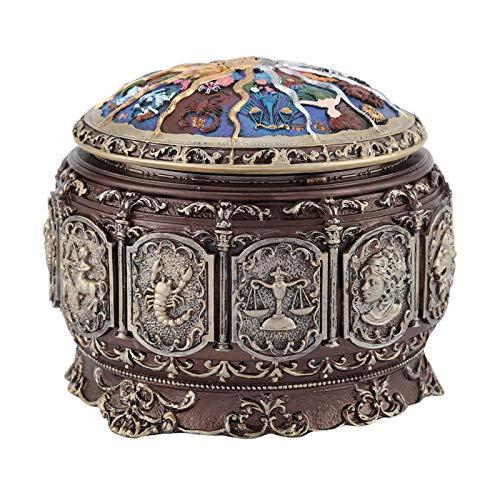 Pangdingk Caja de música, luz LED Parpadeante de 10 * 12 cm / 3,94 * 4,72 Pulgadas Caja Musical Vintage, para cumpleaños,(Libra)