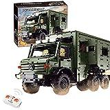 GRTVF Bloques de construcción Control Remoto Vehículo recreativo, 2.4GHz / Aplicación Control Remoto Motorhome Model Set, Regalo de Juguete de cumpleaños para niños de 8+ años, 6689PCS