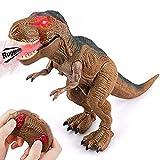 Baztoy Dinosauro Telecomandato Giocattolo - Giochi Animali T-Rex Drago Gadget con funzione Spruzzare e Suoni per Bambini Educativi Compleanno Natale Regali Ragazzi Ragazze 3 4 5 6 7 8 9 10 11 12 Anni