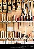 Notas e Ideas: Cuaderno / libro de dibujo herramientas taller garaje sierras destornillador   tamaño A5, libreta blanca. Sostenible y neutral al clima.