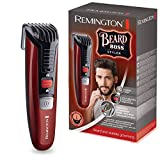 Remington Beard Boss Styler MB4125 Barbero, Cuchillas Serradas de Acero Inoxidable, Inalámbrico, 11 Ajustes, Rojo