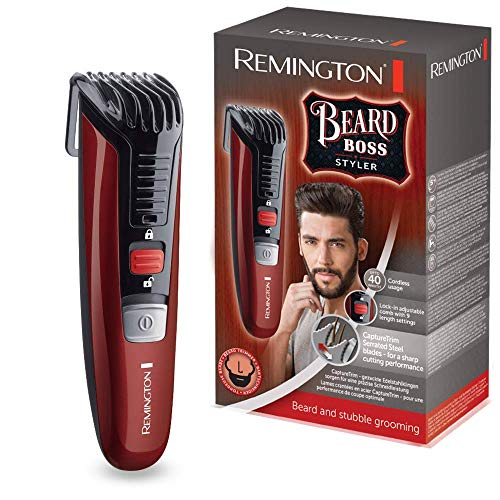 Remington Beard Boss Styler MB4125 Barbero, Cuchillas Serradas de Acero Inoxidable, Inalámbrico,...