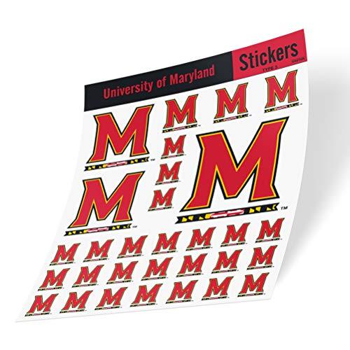 University of Maryland Terrapins UMD Terps Sticker Vinyl Decal Laptop Water Bottle Car Scrapbook (Type 3 Sheet C)