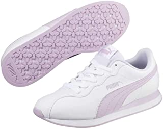 Puma Womens Turin Ii Leather Low Top Lace Up Running Sneaker, White, Size 8.5