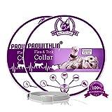 prowithlin Collar Antipulgas y Antigarrapatas para Gatos, Collar Impermeable Ajustable, Solución Natural contra Pestes para Gatos Jóvenes, 36 cm 8 Meses Talla Única para Todos los Gatos