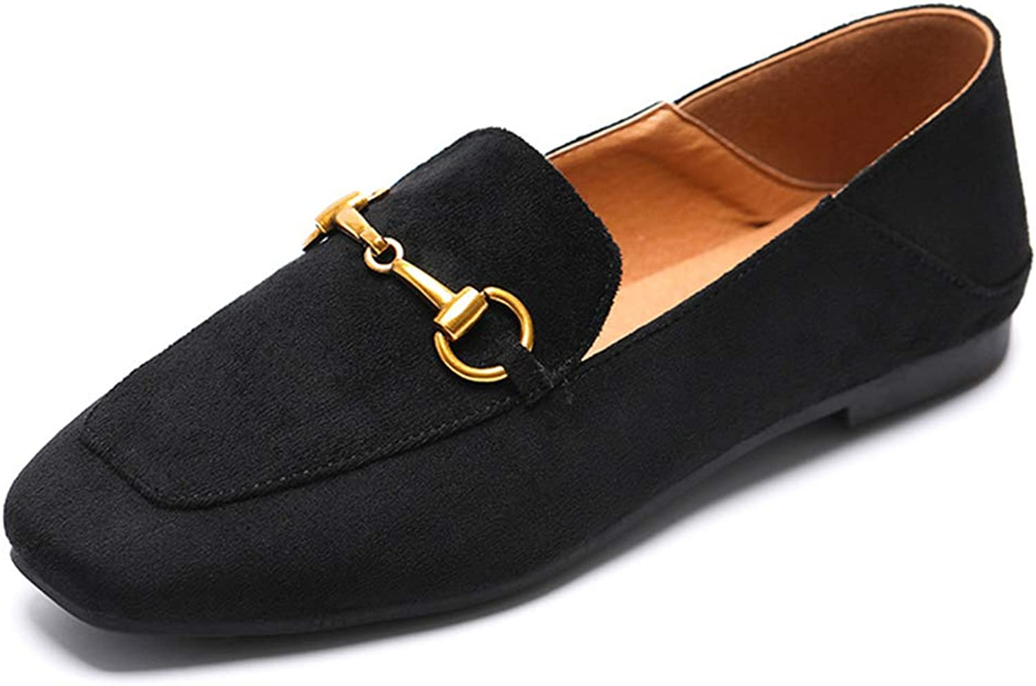 Kyle Walsh Pa Women Slip-on Flats, Square Toe Casual Slim Vintage Moccasins, Female Lazy shoes