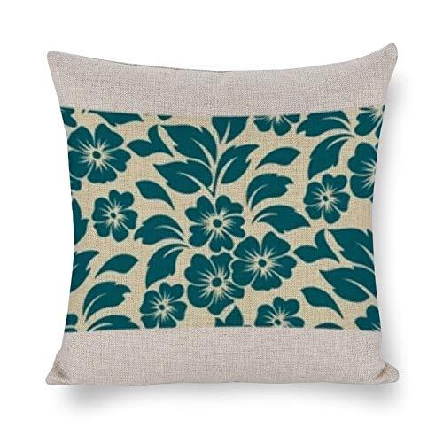 PeteGray Fundas de almohada de 18 x 18 con diseño de flores sin costuras, decoración de casa de campo para sofá, sofá, decoración para el padre, fundas de almohada para el dormitorio