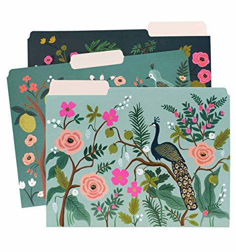 Rifle Paper Co. Shanghai Garden Letter Sized File Folders (Оne Расk)