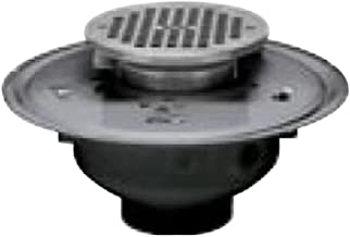 Oatey 82354 ABS Adjustable Commercial Drain with 8-Inch Cast NI Grate and Round Top, 4-Inch