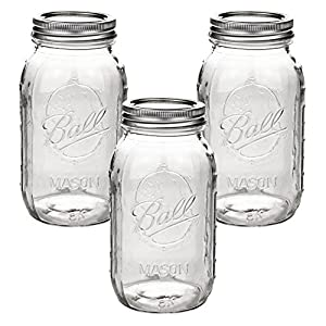 Ball Mason Jar 32oz Regular Mouth 3er/Set