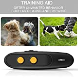 Ultrasonic Dog Bark Deterrent - Rechargeable Bark Control Device - Dog Barking Deterrent Devices - Dog Behavior Training Tool Control Devices of 16.4 Ft Effective Control Range with Dog Whistles