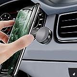 DAWAN車載スマホホルダー マグネット式 車 キッチン 浴室 オフィス iPhone Android 全機種対応 強力磁石 着脱簡単 片手操作 360度回転 マグネット 旅行 カーマウント ブラック