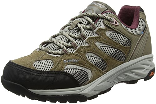 Hi-Tec Wild-Fire Low I Waterproof, Zapatillas de Senderismo para Mujer, Beige (Taupe/Warm Grey/Grape Wine), 39 EU
