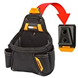 ToughBuilt - Tape Measure/All Purpose Pouch, No-Snag Hidden Seam Pocket, 2 Screw Driver Loops, Rugged 6-Layer Construction, 5 Pockets and Loops - (TB-CT-25)