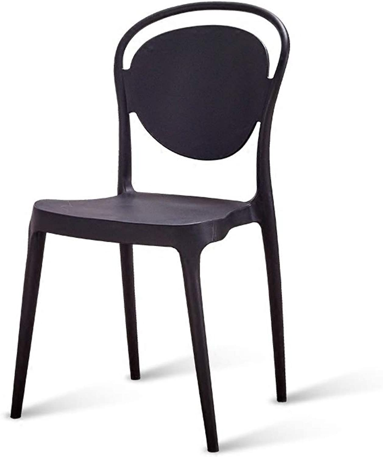 Modern Nordic Simple Dining Chair Backrest Creative Office to Discuss Chairs Adult Plastic Fashion Restaurant Chair Stool Black