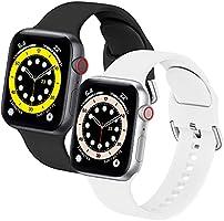 WFEAGL コンパチブル Apple Watch バンド, シリコン スポーツバンド 通気性 防水 防汗 アップルウォッチ ベルトコンパチブル iwatch SE ,Series 6 5 4 3 2 1に対応