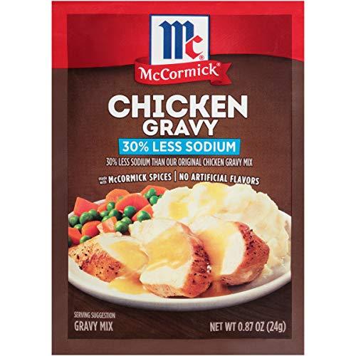 McCormick 30% Less Sodium Chicken Gravy Mix, 0.87 oz (Pack of 12)