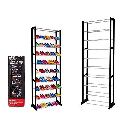 Estantería para zapatos, 30 pares, 10 niveles, estante para zapatos, estante organizador, soporte ajustable, almacenamiento de zapatos