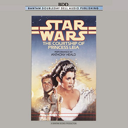 Star Wars: The Courtship of Princess Leia audiobook cover art