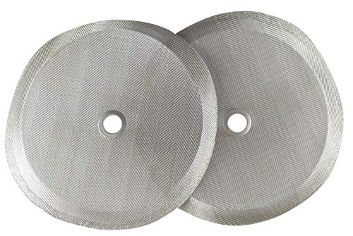 Universal Replacement French Press Filter: 4 Inch Stainless Steel Mesh Replacements for Bodum or Compatible Coffee Press Filters - French Press Screen Replacement Parts with Recipe Ebook, 2 Pack