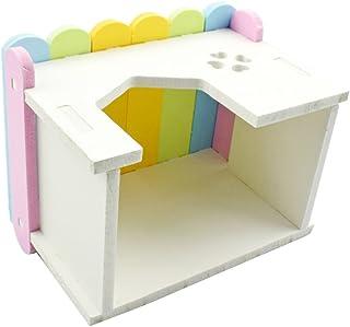 Perfk 小型ペット ハムスター リス かわいい カラフル 家 ベッド 生息地 洞窟 おもちゃ ペット 贈り物