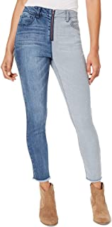 dollhouse Juniors' Two-Tone Ankle Skinny Jeans